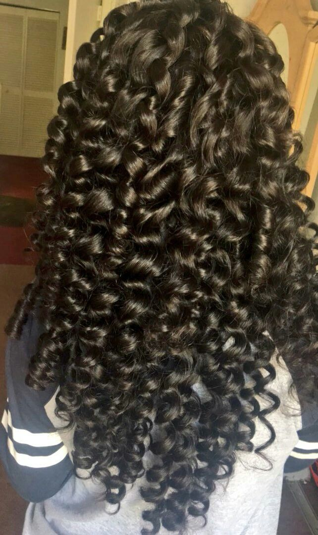 Hair curls curly slayed weave Brazilian body wave wand pretty