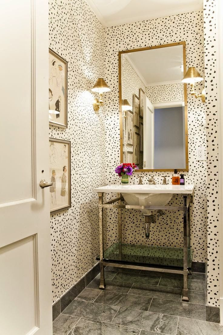 The French Tangerine: ~ pretty pretty powder rooms