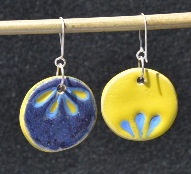 Ceramic earrings. Ceramiczne, ręcznie wykonane kolczyki.