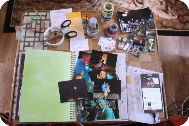 Constructing a Smashbook page in Thai travel journal :] on Now Tomorrow's Here Today
