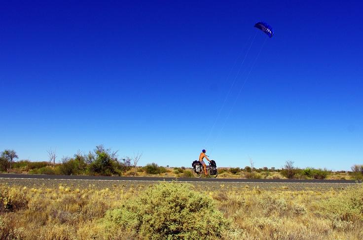 39. Kite-bike !