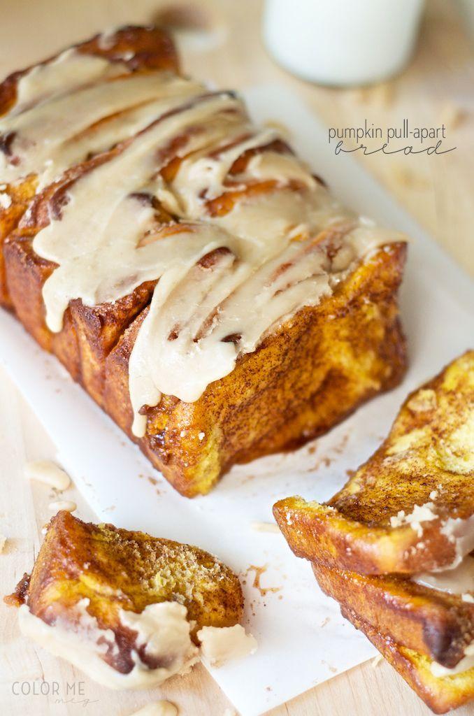 pumpkin cinnamon pull apart bread