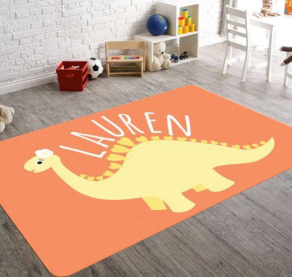 Personalized Rug Dinosaur Nursery