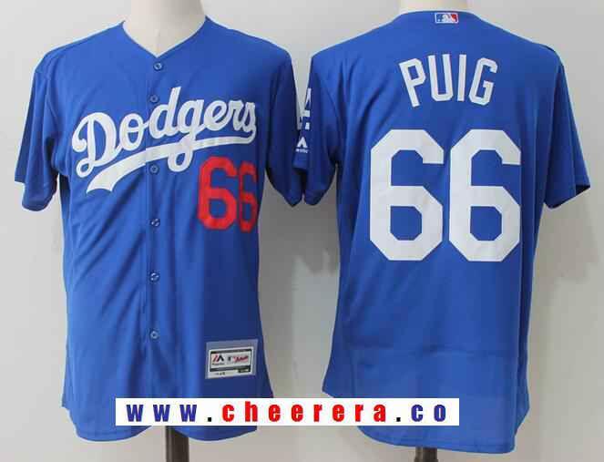 buy online 96c85 aa4ff Men's Los Angeles Dodgers #66 Yasiel Puig Royal Blue ...