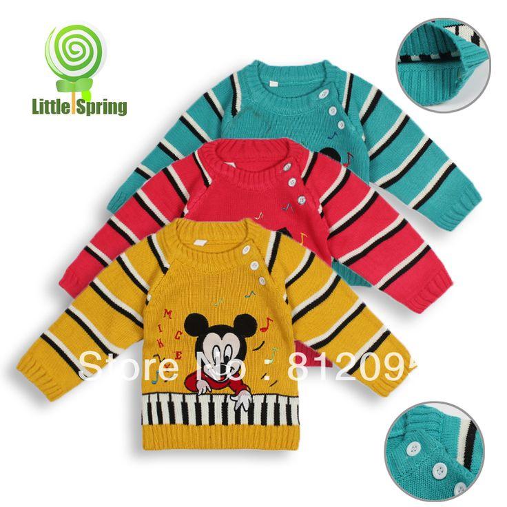 Детский свитер с длинным рукавом мультфильм печати весна осень кнопки детей свитер мальчик девочка свитер