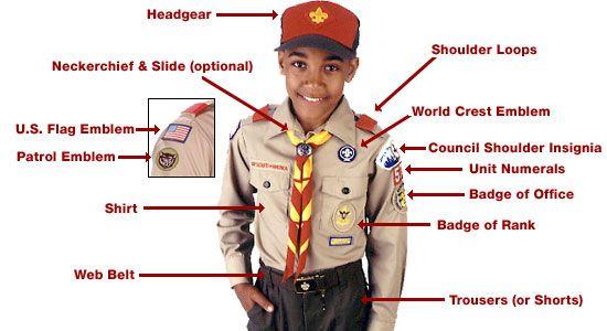 "www.boyscoutsofamerica.com/uniform   Typical ""Class A"" Uniform"