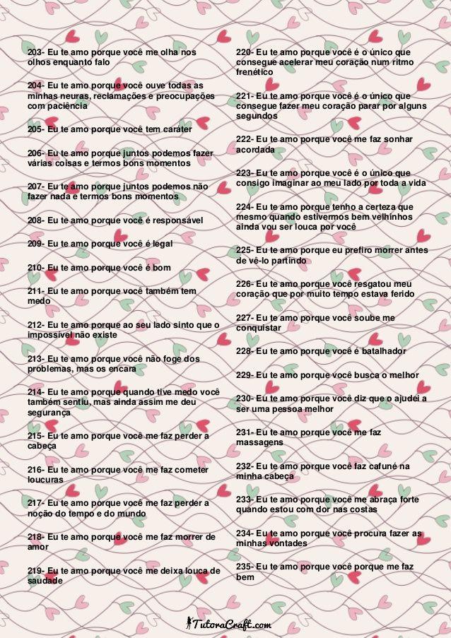 365 Motivos Para Te Amar Tutoracraft Com Imagens Surpresa Para
