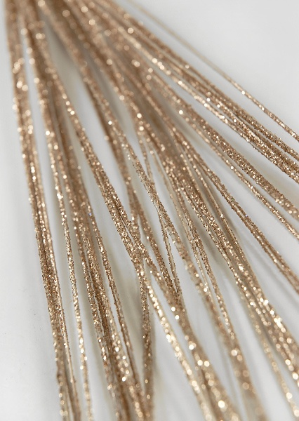 """Straight 44"""" Gold Ting Ting Champagne Glitter Branches (natural) $3.99 bundle / 6 bundles $3 each"""