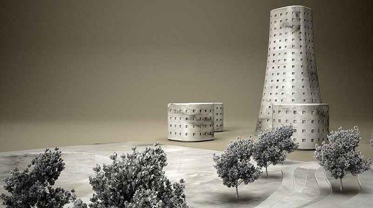 Kanata il vassoio che sembra una città contemporanea in miniatura Il designer cipriota Stelios Mousarris ha recentemente creato 'Kanata' che sembra il modello architettonico di un quartiere in periferia. C'è una piazza con tanto di scalinate ed alberi, oltre ai pal #design #architettura #arredamento