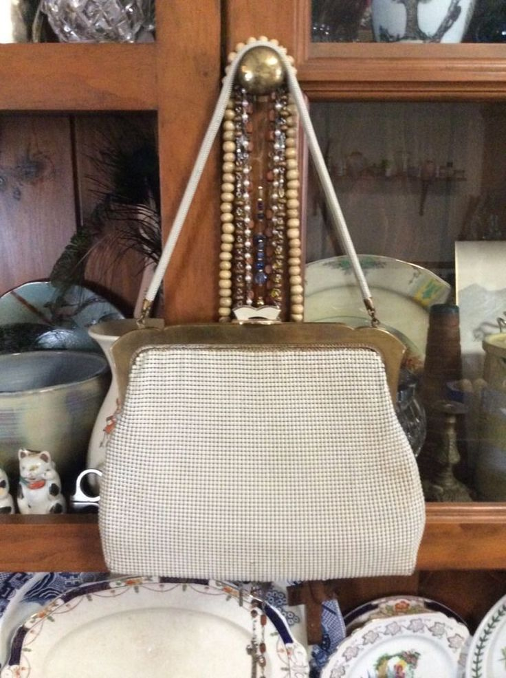 Gorgeous Cream Vintage Mesh Bag By Oroton in Clothing, Shoes, Accessories, Vintage, Accessories | eBay