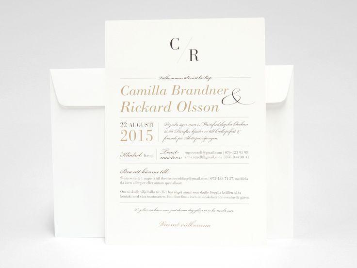 Bröllopstryck wedding invitation romantisk  Save-the-date, bröllopsinbjudan, kuvert, meny, vigselprogram, festprogram, tackkort. Se på bilderna här