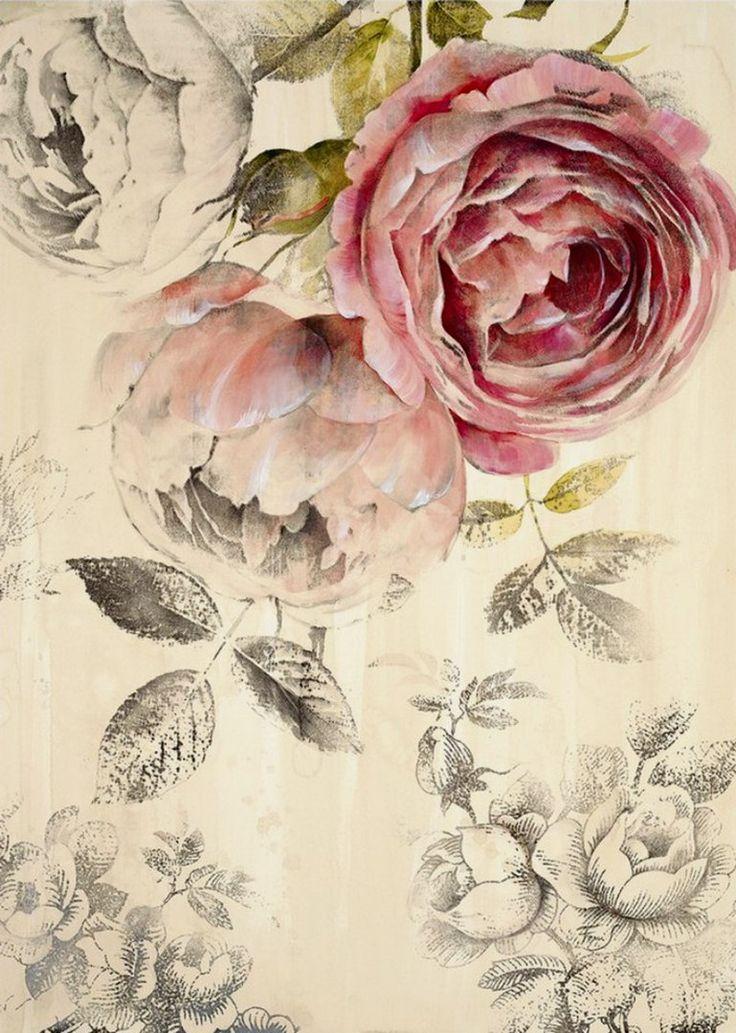 хочешь проявить картинки для декупажа винтажные розы очень