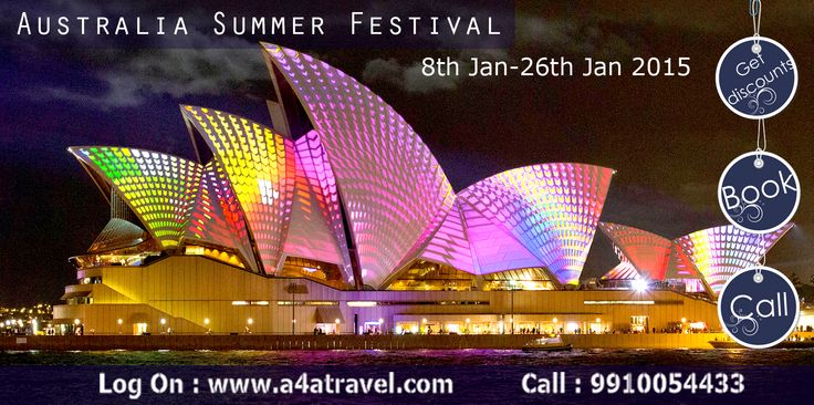 Kick out Delhi chilled winter enjoy Australia summer festival. For cheap international air tickets, hotel booking & best holiday package logon: www.a4atravel.com #cheapairtickets #hotelbooking #holidaypackage