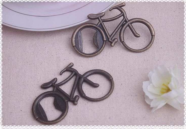 100PCS/LOT Vintage Metal Bicycle Bike Shaped Wine Beer Bottle Opener For Cycling Lover Wedding Favor Party Gift Present