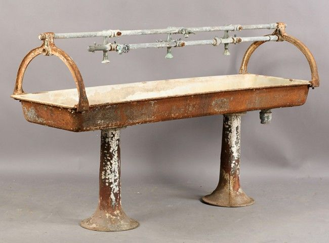 VINTAGE CAST IRON MULTI FAUCET TROUGH STYLE SINK | Eye candy ...