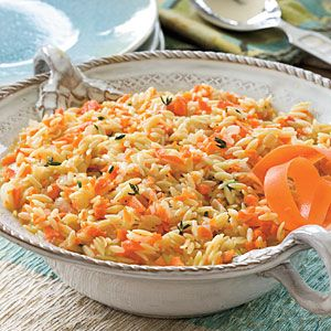 Carrot Orzo | MyRecipes.com-I used vegetable broth instead of chicken