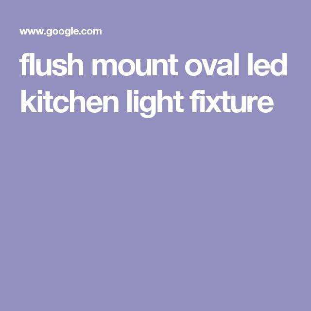 flush mount oval led kitchen light fixture
