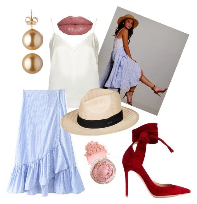 """Kathryn Bernardo"" by hailaariola on Polyvore featuring Racil, Roxy and Gianvito Rossi"