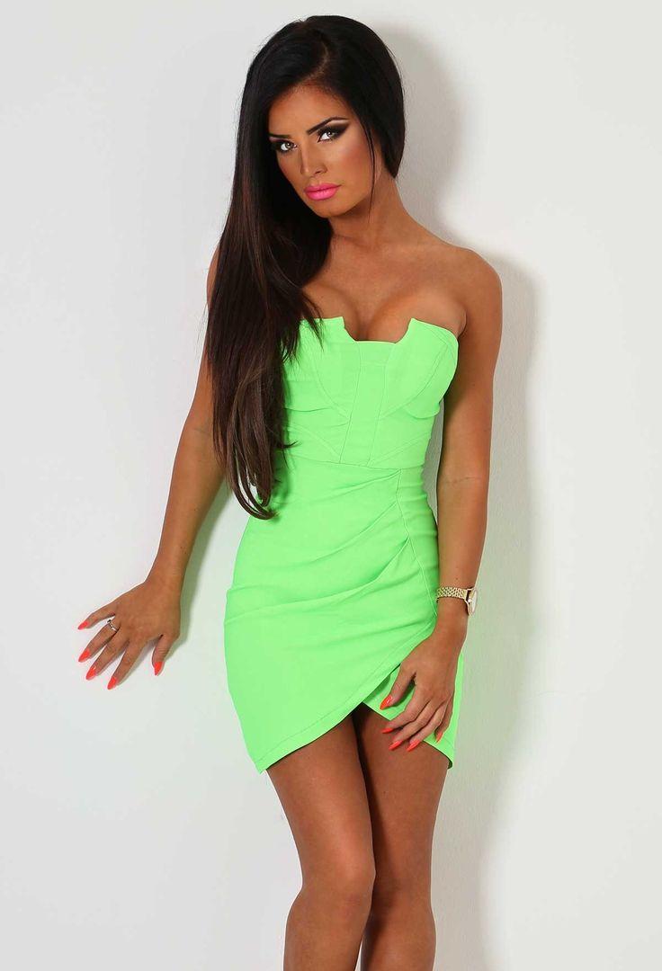 Tropic Sun Neon Green Mini Dress | Pink Boutique