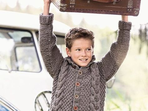 Do It Yourself: Perlmuster-Trachtenjacke für Kinder stricken. DIY-Anleitung via DaWanda.com