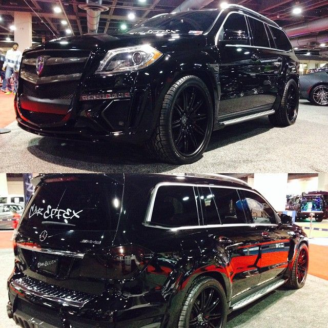 """2014 GL63 With #LarteDesign Black Crystal Widebody Kit"