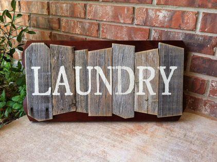 Rustic Random Cedar Wood Sign Laundry By Weathered Ways