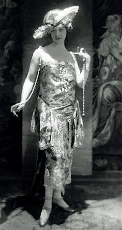 1921 Callot Souers - love finding a color photo of the dress and a photo of the owner wearing it!