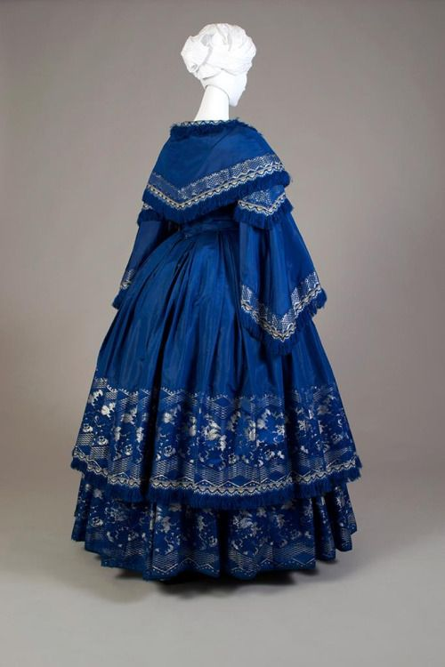 Dress, mid-1850′s From the Kent State University Museum on Facebook