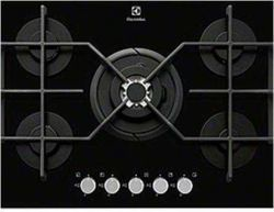 Electrolux EGT7353YOK Ankastre Ocak,Gazlı,Siyah Cam,5 Gözlü,Wok,70 cm