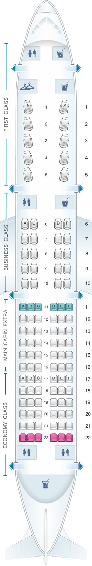 The Best Airbus A Seating Chart Ideas On Pinterest Air - Us airways a321 seat map