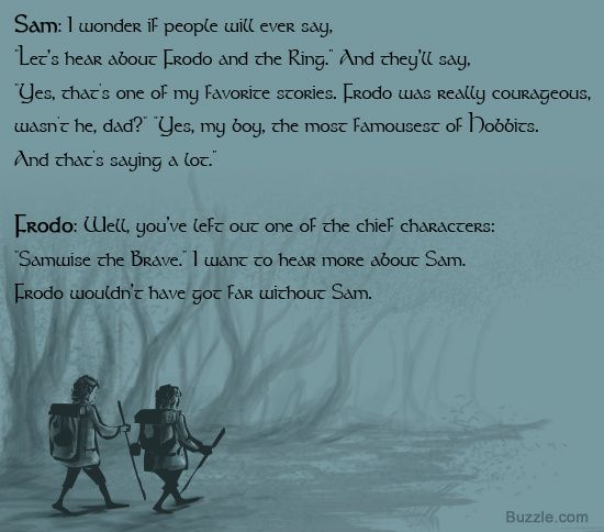 Conversation between Frodo and Sam from The Two Towers