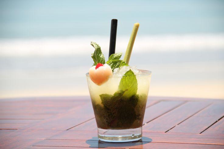 Belmond Jimbaran Puri's 'Mojito De Ladro' cocktail (a delicious mix of Arak Bali, lychee liqueur, lychee juice, fresh mint leaves, fresh lime, sugar and a splash of soda).