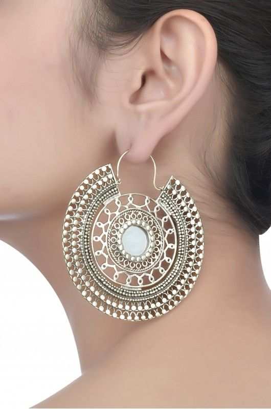 Tribal Mirror Rawa Earrings- Amrapali