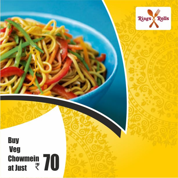 Hurry up.. Rings & Rolls Special #Veg #Chowmein Just Rupees 70/- Download Now:-goo.gl/LpEJqG  #discountoffer #MyCashlessWallet #cashlessshopping #food #onlinemobileapp #foodlovers #like4like #foodlove #party #cafe #healthyfood #healthylifestyle