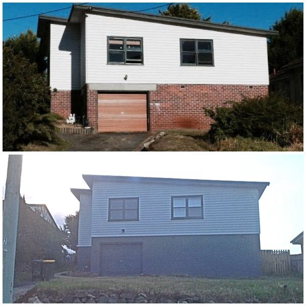 Before and after of out house :)