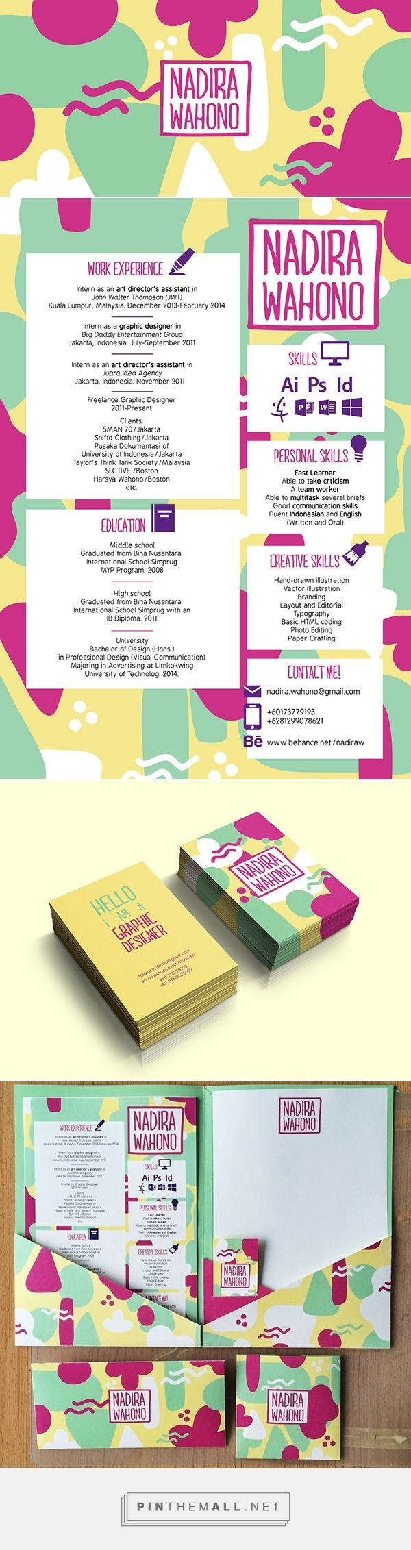 Self Branding & C.V on Behance... - a grouped images picture - Pin Them All
