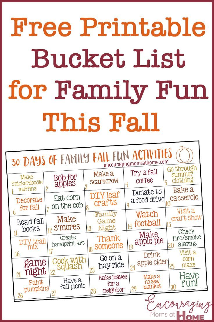 Fall Fun with a Family Activities Bucket List!