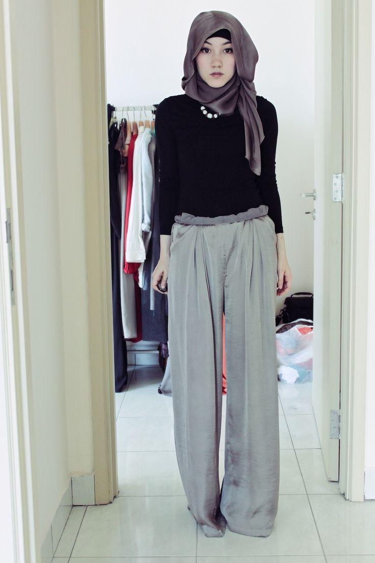 maysaa pleated pants    #hijab