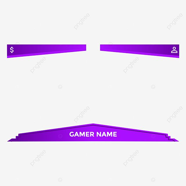 Modern Geometric Yotube Gaming Live Streaming Overlay With Purple Colors Also Can Be Used For Twitch Obs Studio Template Streaming Online Png And Vector With Purple Color Overlays Live Streaming