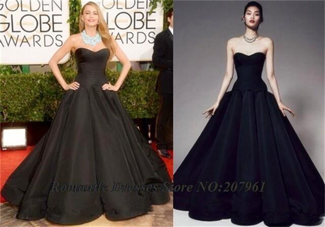 Celebrity Dresses 2016 71st Golden Globe Awards Black Carpet Dresses Sweetheart A-line Taffeta Evening Gowns Prom dresses AR03