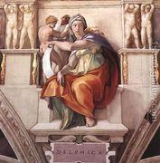 The Delphic Sibyl 1509  by Michelangelo Buonarroti