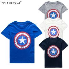 2016 Cotton Boys T-shirts Captain America Short Children t shirt For 1~11 Y Boy Cartoon Tops Tees Summer Kids Clothes CG050 //Price: $US $3.96 & FREE Shipping //     #woman
