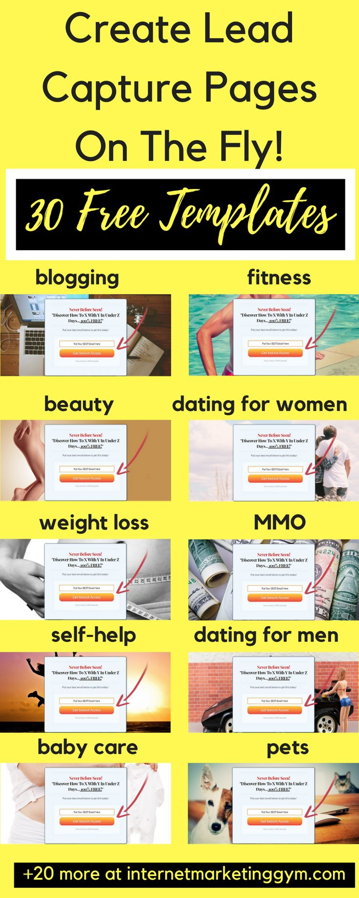 5685 best e commerce images on pinterest inbound marketing create a lead capture form quickly and easily with these lead capture page templates the falaconquin