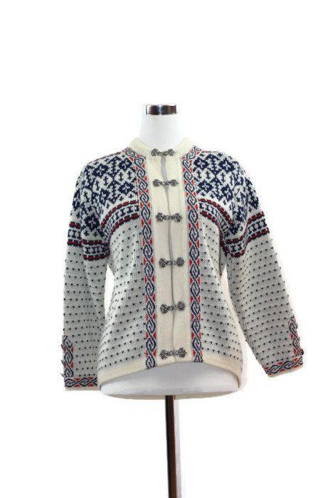 Norwegian Sweater Cardigan Nordic Ski by filthyrebena on Etsy