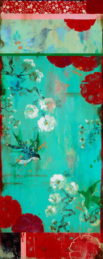 Gorgeous art work by Kathe Fraga ~ Lovebird Series ~ joy! www.kathefraga.com