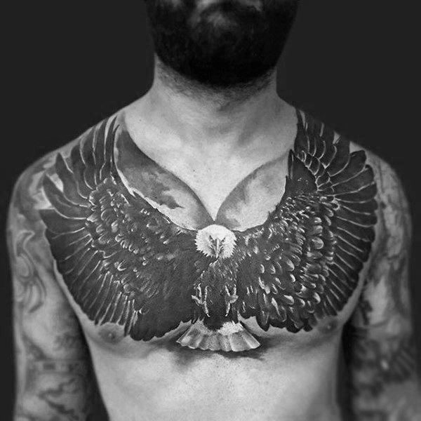80 Eagle Chest Tattoo Designs For Men Manly Ink Ideas Eagle Chest Tattoo Chest Tattoo Chest Tattoo Cover Up