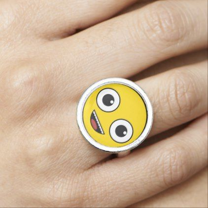 Super Happy Face Photo Ring - jewelry jewellery unique special diy gift present