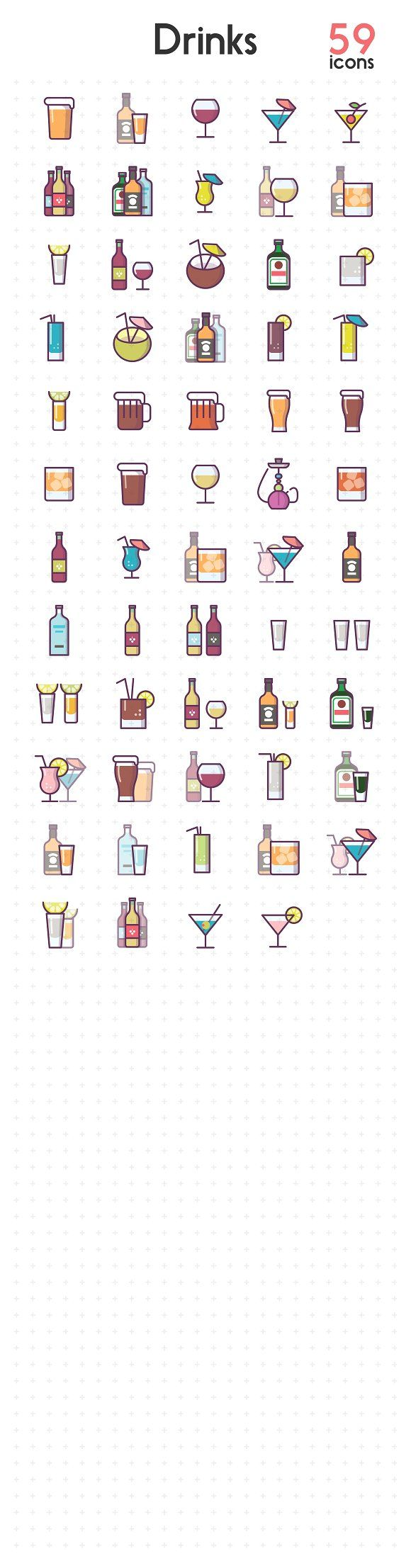 Alcohol Drinks  by sergei.kokota on @creativemarket