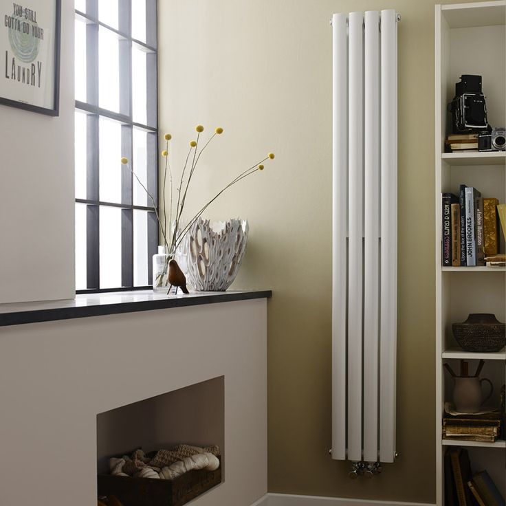 Designer-Heizkörper Vertikal aus Stahl - Revive Weiß - 1201 Watt - 1800 x 236mm - Image 1