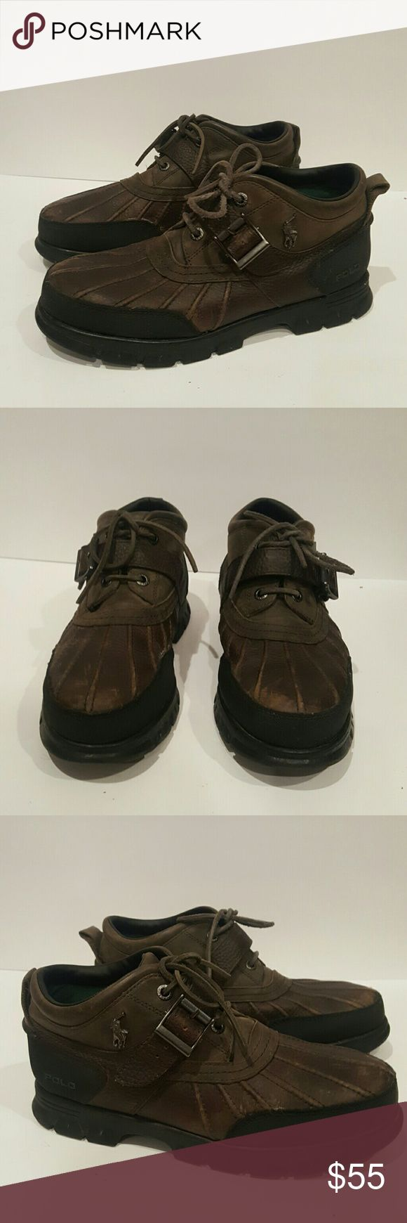 POLO MENS SIZE 10 DOVER 3 III mens boat shoe boot POLO BY RALPH LAUREN MENS DUCK SHOE WINTER BOOT SHOE BOAT SHOES SIZE 1O GREAT SHAPE OLIVE AND BLACK Polo By Ralph Lauren Shoes Rain & Snow Boots